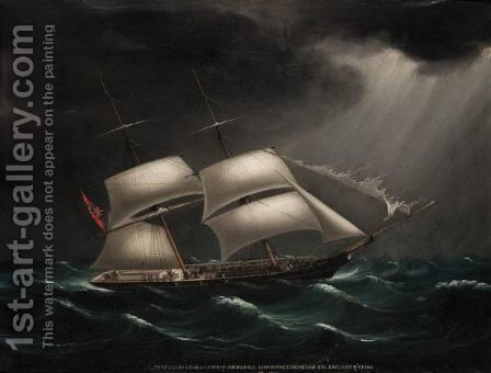 The Brig Alligator, Commanded By S. J. Sinden, Passing The Lamock Islands Off The East Coast Of China by Anglo-Chinese School - Reproduction Oil Painting