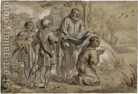 Saint Philip Baptises The Ethiopian Eunuch by Abraham Jansz. van Diepenbeeck - Reproduction Oil Painting