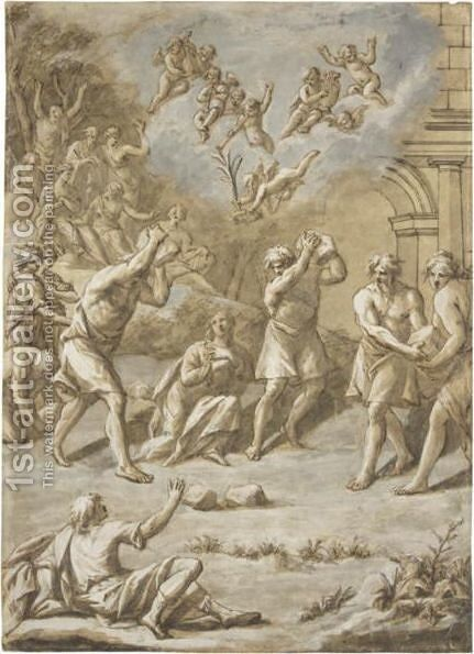 The Martyrdom Of Saint Stephen by (after) Gerard De Lairesse - Reproduction Oil Painting
