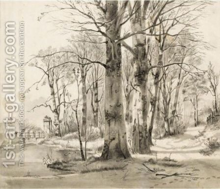 View Of The Village Of Eext, In Drenthe by Jan Van Ravenswaay - Reproduction Oil Painting