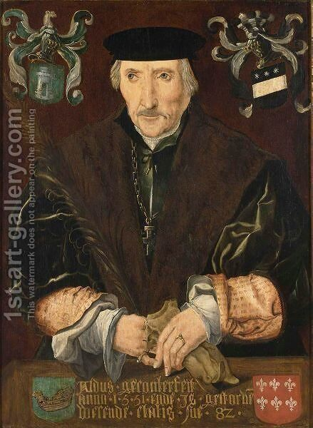A Portrait Of Knight Jacob Adriaensz. Van Domburgh (Died 1553) by Netherlandish School - Reproduction Oil Painting
