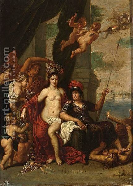 An Allegory Of Peace by (after) Of Ypres (Johannes Or Jan) Thomas - Reproduction Oil Painting