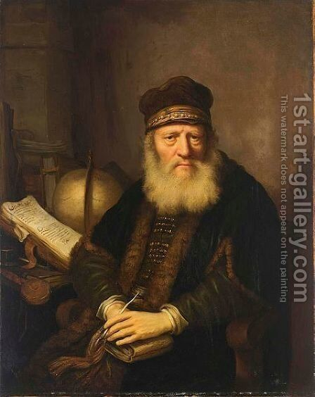 A Portrait Of A Philosopher by (after) Govert Teunisz. Flinck - Reproduction Oil Painting