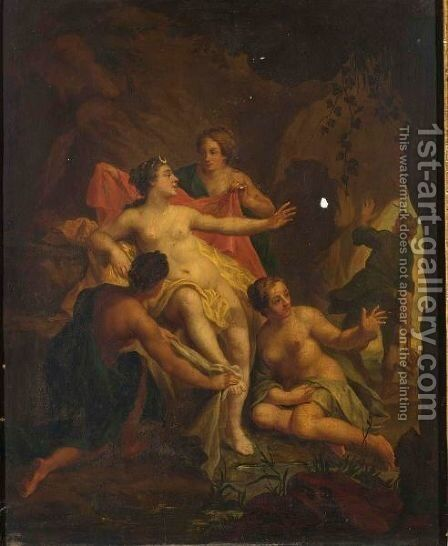 Diana And Actaeon by Hendrick Van Limborch - Reproduction Oil Painting