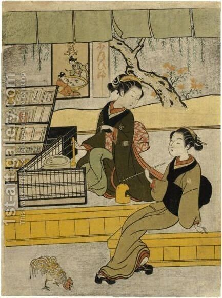 Another Impression Is Illustrated In Aic by Suzuki Harunobu - Reproduction Oil Painting