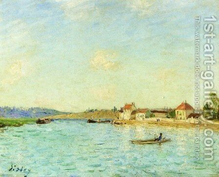 Saint Mammes 3 by Alfred Sisley - Reproduction Oil Painting