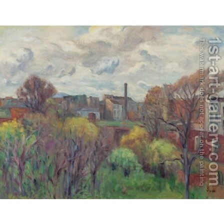 Paysage Aux Environs De Gentilly by Maximilien Luce - Reproduction Oil Painting