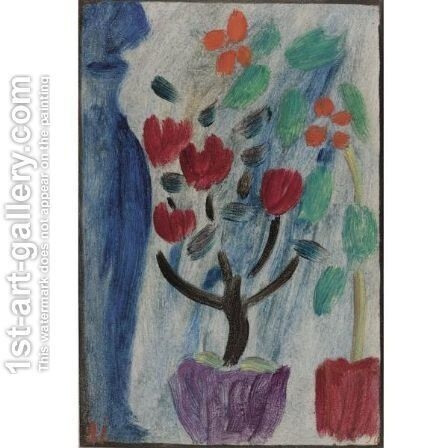 Grosses Stilleben Blumen (Large Still Life Flowers) by Alexei Jawlensky - Reproduction Oil Painting