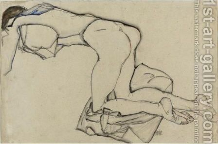 Nude Girl by Egon Schiele - Reproduction Oil Painting