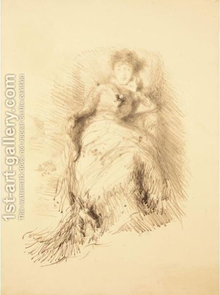 Study of woman by James Abbott McNeill Whistler - Reproduction Oil Painting