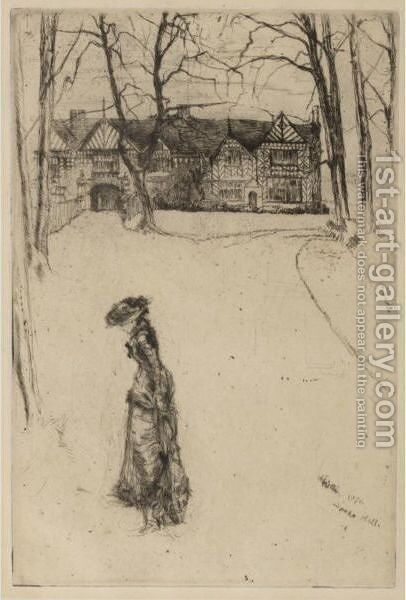 Speke Hall by James Abbott McNeill Whistler - Reproduction Oil Painting
