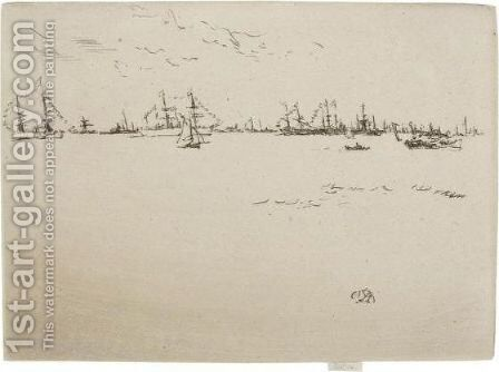 Troop Ships by James Abbott McNeill Whistler - Reproduction Oil Painting