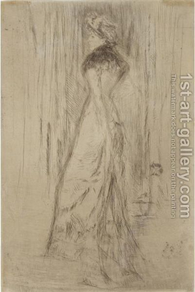 Maude, Standing by James Abbott McNeill Whistler - Reproduction Oil Painting
