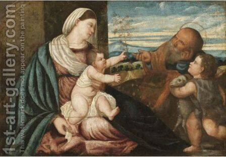 The Holy Family With The Infant Saint John The Baptist by (after) Polidoro Lanzani (see Polidoro Da Lanciano) - Reproduction Oil Painting