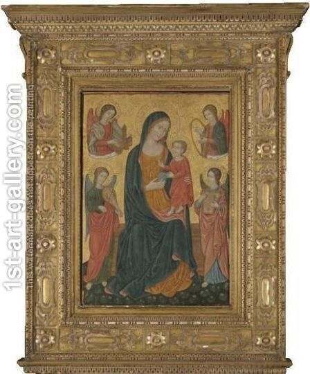 The Madonna And Child With Saints by Italian School - Reproduction Oil Painting