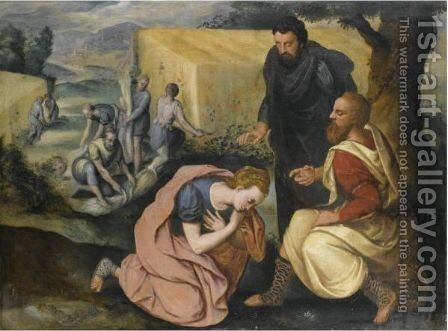 Ruth And Boaz by (after) Frans, The Elder Floris - Reproduction Oil Painting