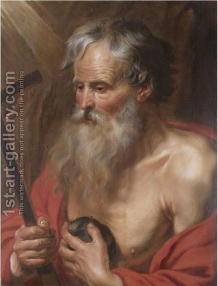 Saint Jerome by Artus Wolfaerts - Reproduction Oil Painting