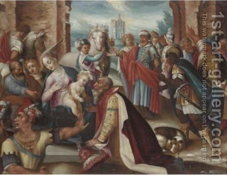 The Adoration Of The Magi 3 by (after) Joseph The Elder Heintz - Reproduction Oil Painting