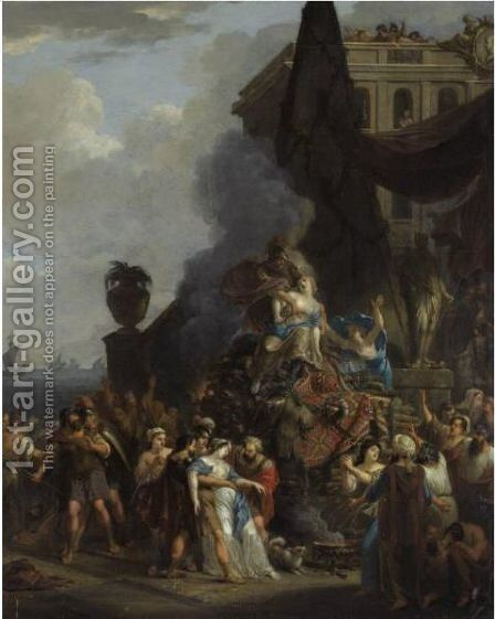 The Sacrifice Of Iphigenia by (after) Gerard Hoet - Reproduction Oil Painting