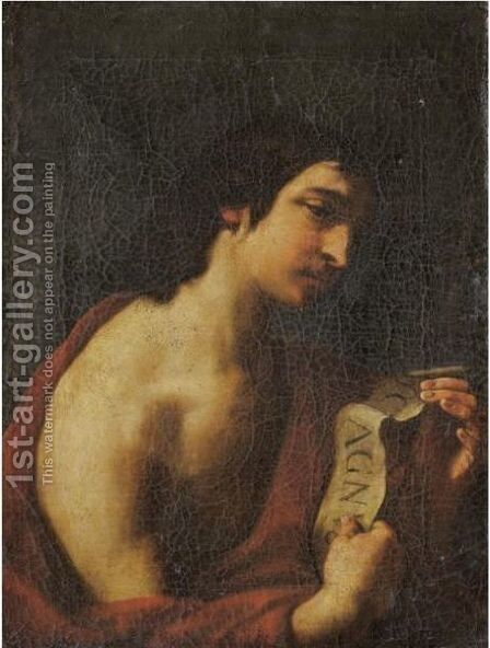 Saint John The Baptist by (after) Simone Cantarini (Pesarese) - Reproduction Oil Painting