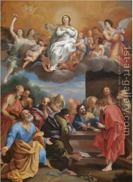The Assumption Of The Virgin by Italian School - Reproduction Oil Painting