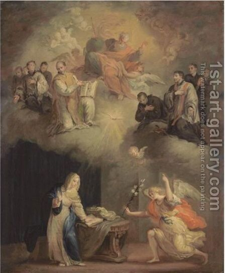 The Annunciation by Spanish School - Reproduction Oil Painting