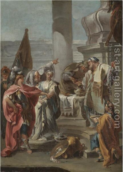 The Sacrifice Of Polyxena by (after) Giambattista Pittoni - Reproduction Oil Painting