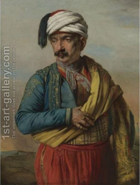 Portrait Of An Eastern Nobleman by (after) Claude-Joseph Vernet - Reproduction Oil Painting