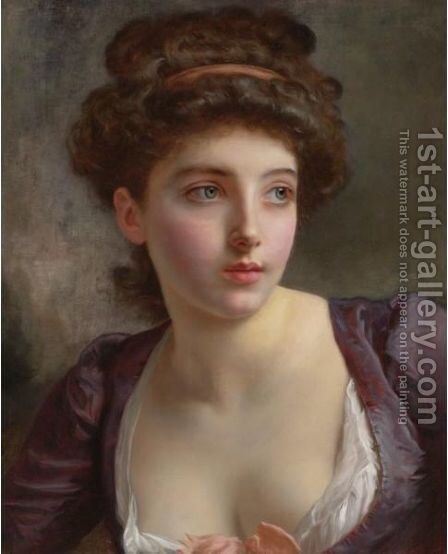 Dressed For The Ball 2 by Gustave Jean Jacquet - Reproduction Oil Painting