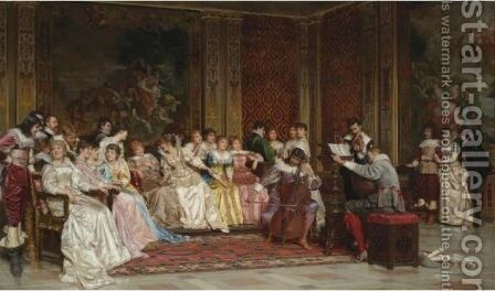 The Concert by Charles Joseph Frederick Soulacroix - Reproduction Oil Painting