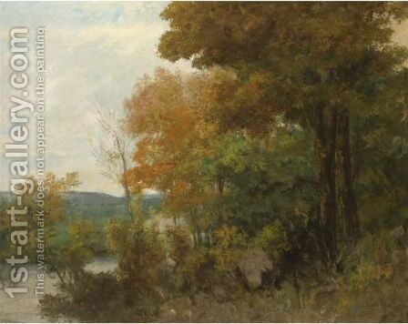 Lisiere De Foret 2 by Gustave Courbet - Reproduction Oil Painting