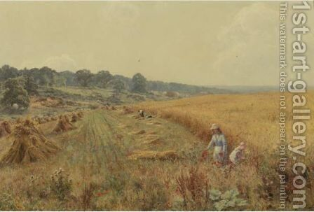 Picking Poppies In Flower-Fringed Fields by Edward Wilkins Waite - Reproduction Oil Painting