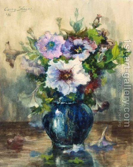 A Flower Still Life by Cornelie Josephine Wilhelmina Slager - Reproduction Oil Painting