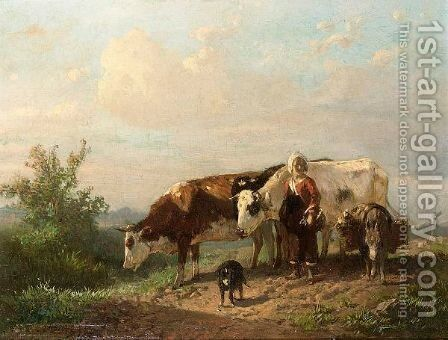 The Cowherdess by Anton Mauve - Reproduction Oil Painting