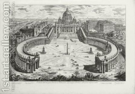 Vedute Di Roma 2 by Giovanni Battista Piranesi - Reproduction Oil Painting