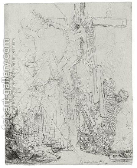 Descent From The Cross A Sketch by Rembrandt - Reproduction Oil Painting
