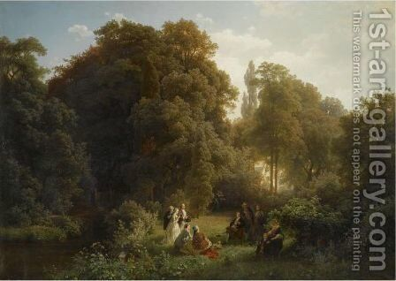 Picknick In Der Campagna (Picnic In The Campagna) by Carl Jungheim - Reproduction Oil Painting