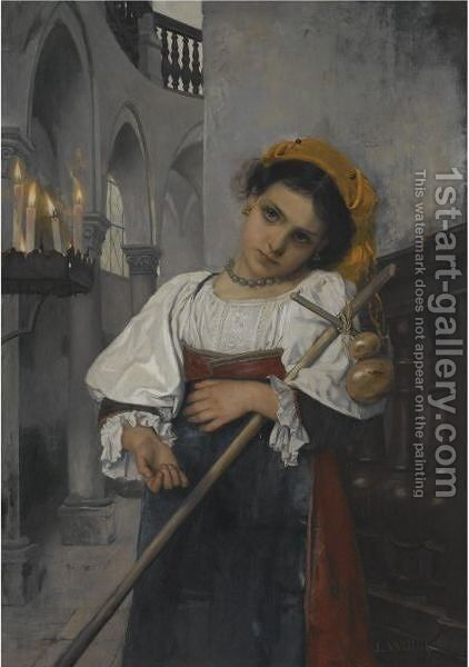 In Traumen Versunken (Daydreams) by Heinrich Ludwig Wittich - Reproduction Oil Painting