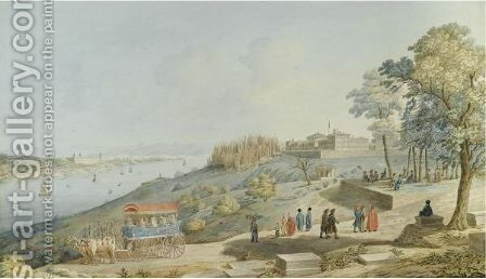 The Golden Horn And The Marmara Sea From The Uskudar Heights by Michel-Francois Preaulx - Reproduction Oil Painting