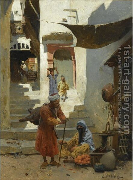 The Fruit Seller by Charles Wilda - Reproduction Oil Painting