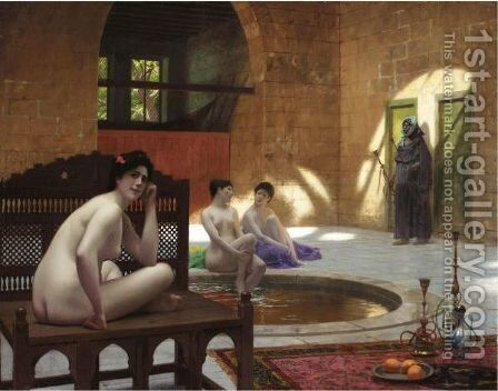 Femmes Au Bain by Jean-Léon Gérôme - Reproduction Oil Painting