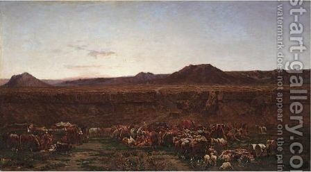 The Encampment by Alberto Pasini - Reproduction Oil Painting