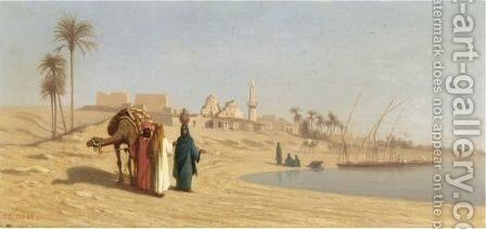 The Banks Of The Nile by Charles Théodore Frère - Reproduction Oil Painting