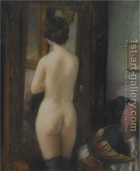 Nu A La Psyche by Henri Gervex - Reproduction Oil Painting