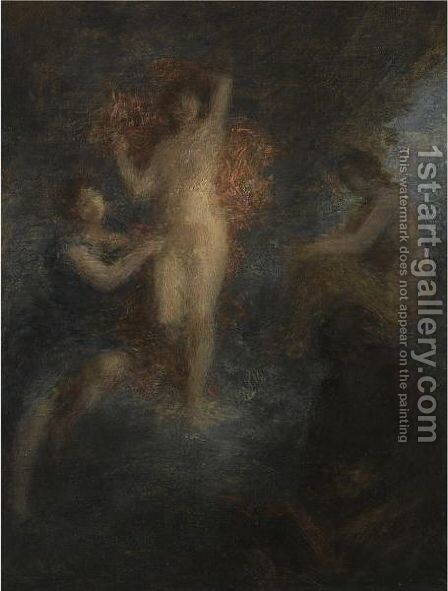 La Tentation De Saint Antoine 2 by Ignace Henri Jean Fantin-Latour - Reproduction Oil Painting