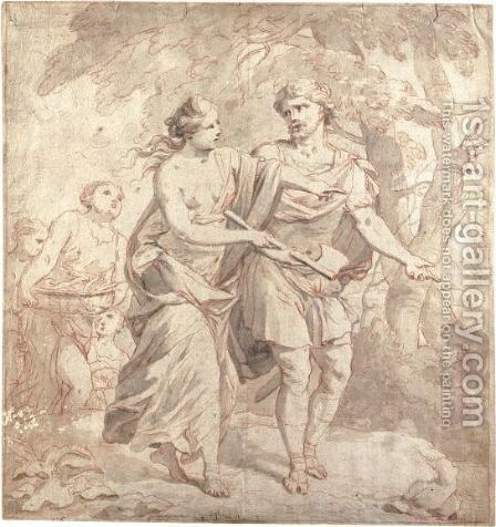 Scena Mitologica Con Delle Ninfe Che Guidano Un Uomo by (after) Pietro Dandini - Reproduction Oil Painting