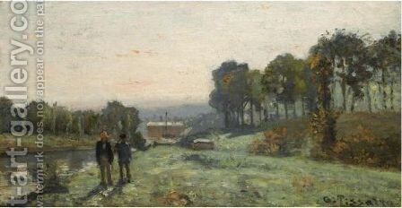 La Machine De Marly A Bougival by Camille Pissarro - Reproduction Oil Painting