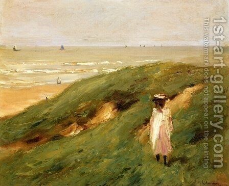 Dune Bei Nordwijk Mit Kind (Dune Near Nordwijk With Child) by Max Liebermann - Reproduction Oil Painting