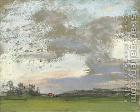 Paysage by Claude Oscar Monet - Reproduction Oil Painting