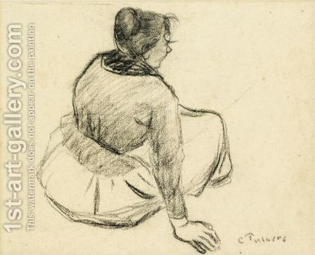 Femme Assise by Camille Pissarro - Reproduction Oil Painting